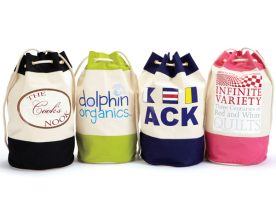 Colored Canvas Rope Handle Backpack Duffle Bag