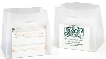 Die Cut Frosted Handle Bags