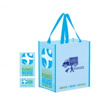Non Woven 100% Recycled Grocery Bag Recycle, Reduce, Reuse #EPECO12813