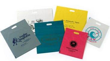 Plastic Fold Over Die Cut Bags