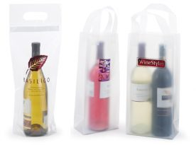 Frosted Wine Bottle Bags