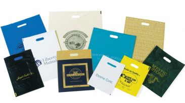 Ink Printed Plastic Patch Handle Bags