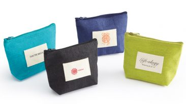 Jute Zipper Pouches