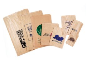 Recycled Natural Kraft Merchandise Bags