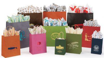 Tinted Kraft Shopping Bags