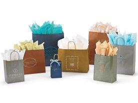 Metallic Tints on Natural Kraft Shopping Bags