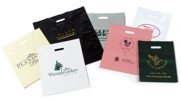 Hot Stamped Plastic Patch Handle Bags