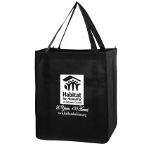 Non Woven Economy Buster Grocery Bag w/ 1 Color Imprint (13″x10″x15″)