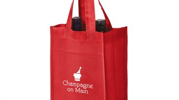 2 Bottle Non Woven Wine Collection Bag w/ 1 Color Imprint #EPVINE2