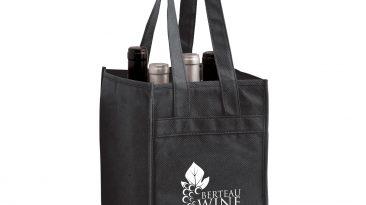 4 Bottle Non Woven Wine Collection Bag w/ 1 Color Imprint #EPVINE4