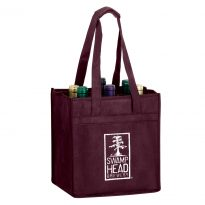 6 Bottle Non Woven Wine Collection Bag w/ 1 Color Imprint #EPVINE6