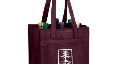 6 Bottle Non Woven Wine Collection Bag w/ 1 Color Imprint #EPVINE6