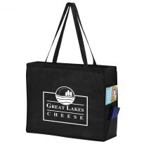 Non Woven Tote Bag 20x6x16 With Side Pockets #EPY2KP20616