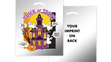 Halloween Metallic Non Reinforced Die Cut Handle Bags #EP13HH1215