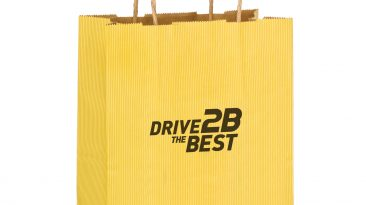 Cub Paper Shopping Bags Natural Kraft Mirage Stripe screen printed #EP4M8410