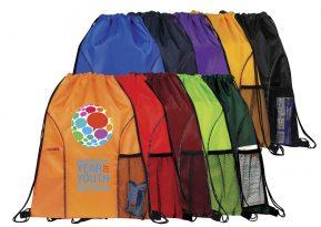 Dual Pocket Drawstring Backpack #EDS1222